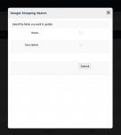 Update items with Google shopping search